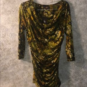 Victor Alfaro ruched/ lined top NWT SZ S